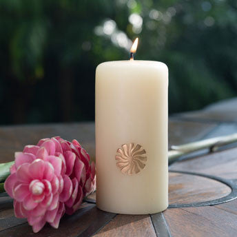 Embossed Signature Candle - Natural