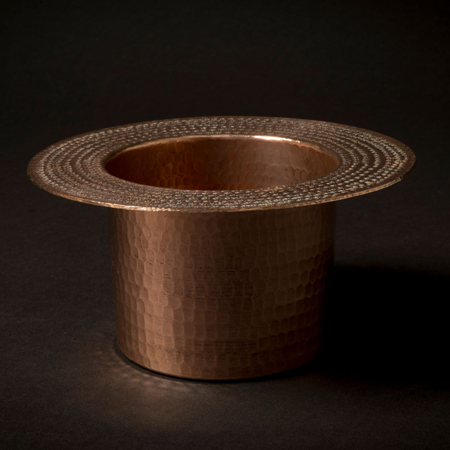Laura Kirar artisanally-crafted copper platter with polished copper finish