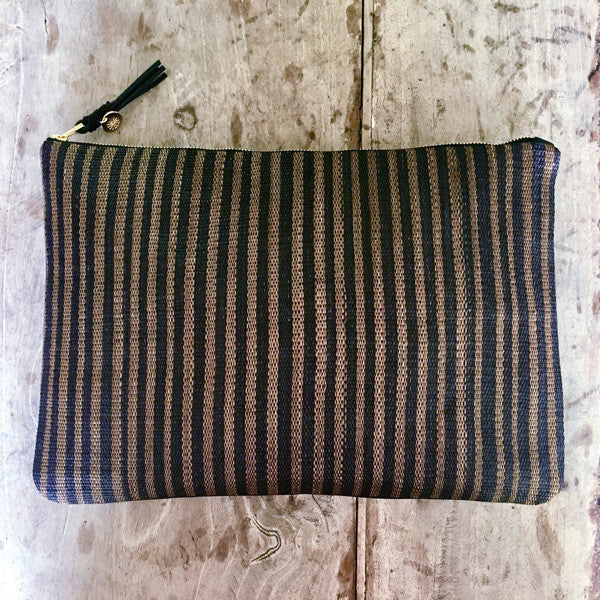 Large Clutch Bag in LK Signature Stripe