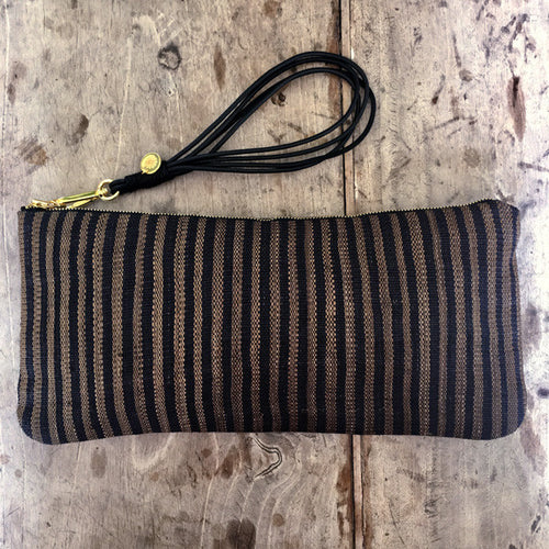 Small Clutch Bag in LK Signature Stripe