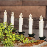 Tapers Candle White Primitive Christmas Tree Wreaths 10/set Clip - Jam-Discount Home Decor