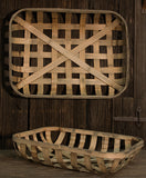 Farmhouse Long Brown Bamboo Baskets 2 set - Jam-Discount Home Decor