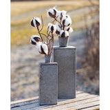 Washed Galvanized Bottle Vases 2 Set - Jam-Discount Home Decor