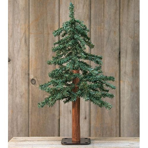 Table Top 2ft Tall Alpine Tree Rustic Christmas Decor - Jam-Discount Home Decor
