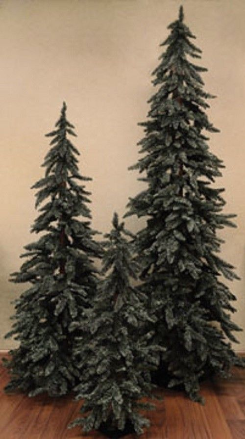 Beautiful Grey-Green Downswept Alpine Christmas Tree 3'4'5' Rustic Holiday - Jam-Discount Home Decor