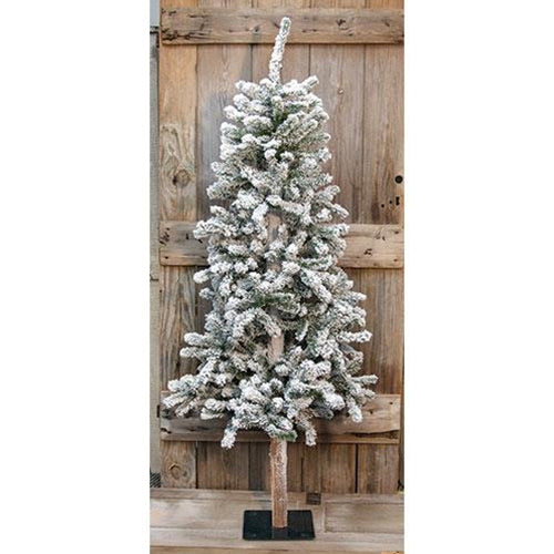 White Green Flocked Alpine Christmas Tree Holiday Decor - Jam-Discount Home Decor