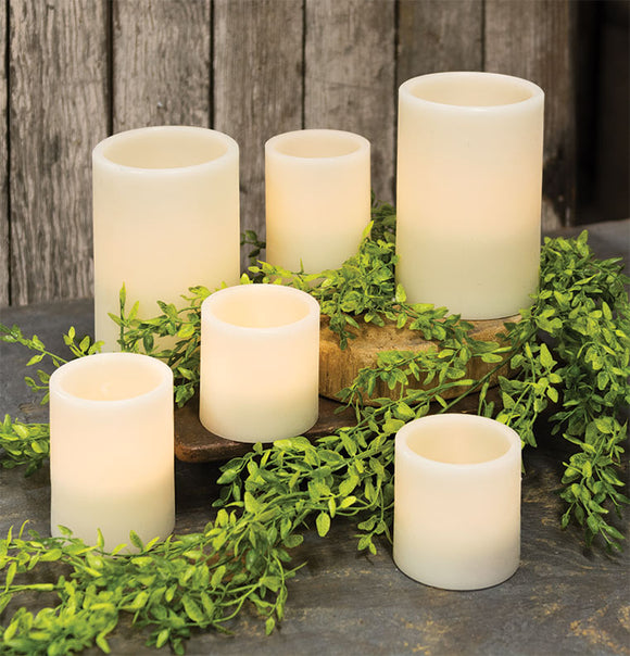 Flicker Pillars timer 6 set Flameless Led Candles - Jam-Discount Home Decor
