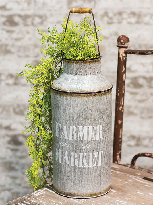 Farmer Market Display Galvanized metal milk can 14