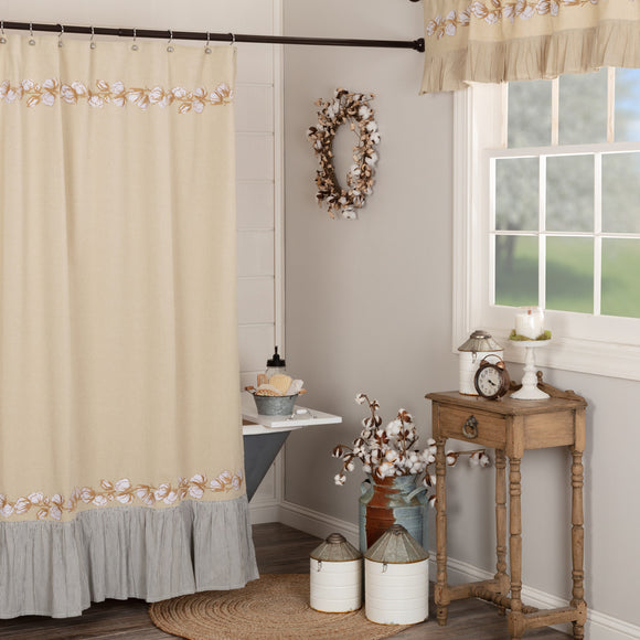 Farmhouse Bath Ashmont Cotton Shower Curtain 72x72