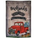 Old Truck Camper Junkin Welcome Polyester Outdoor Garden Flags - Jam-Discount Home Decor