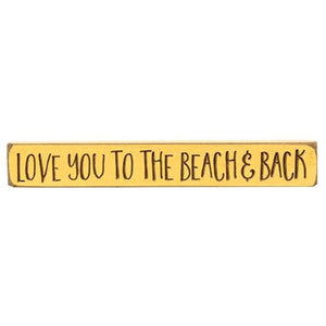 Engraved Block Love You to the Beach and Back - Jam-Discount Home Decor
