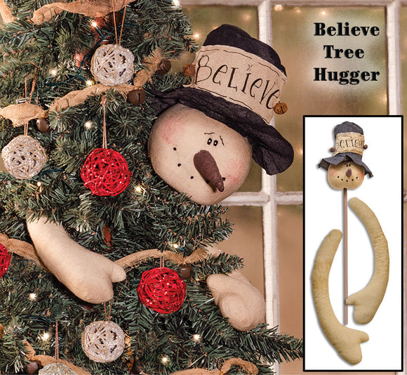 Rustic Holiday Snowman Tree Topper/Huger Primitive Christmas Decor - Jam-Discount Home Decor
