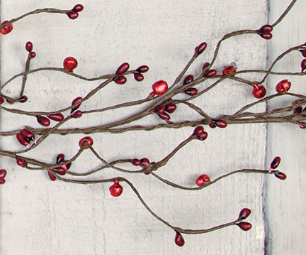 Jingle Bell & Burgundy Pip Garland 4ft Mantle Floral Arrangements - Jam-Discount Home Decor