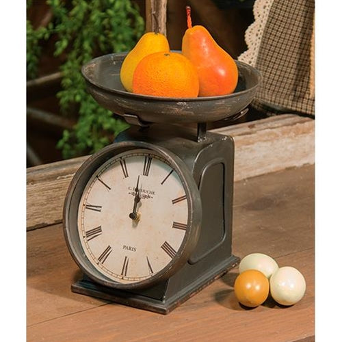 Vintage Clock Decorative Scale Rustic Kitchen Table Top - Jam-Discount Home Decor