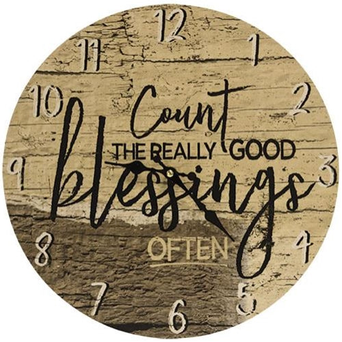 Count Blessings Wall Clock - Jam-Discount Home Decor