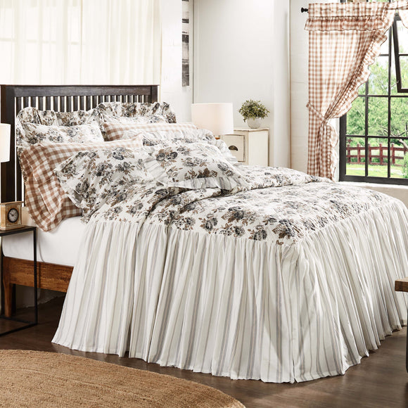 Annie Portabella Floral Ruffled Coverlet King Queen Twin Vhc Brands