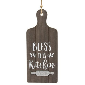 Bless This Kitchen Cutting Board Wall Hanger - Jam-Discount Home Decor