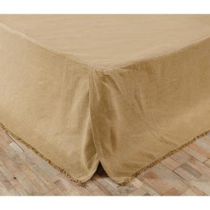 Burlap Queen King Natural Bed skirt Dust ruffle Farmhouse Beds - Jam-Discount Home Decor