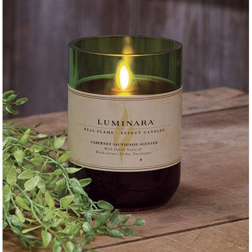 Scented Luminara Cabernet Battery Operated Candle - Jam-Discount Home Decor