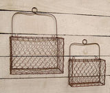 Wall Baskets Hanger Wire Farmhouse Spring 2 set - Jam-Discount Home Decor
