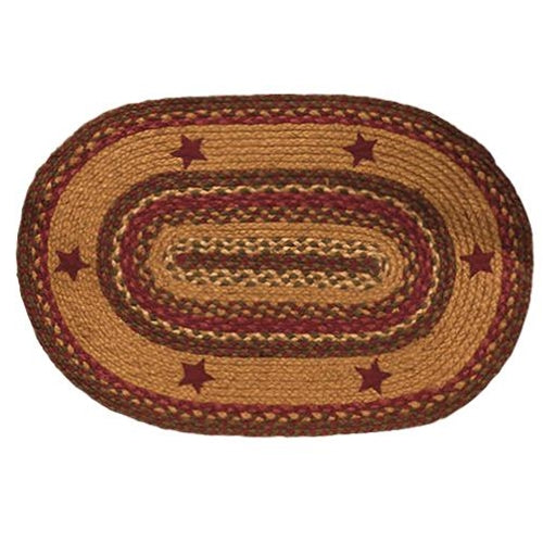 Farmhouse Braided Oval Rug 20x30 Cinnamon Star - Jam-Discount Home Decor