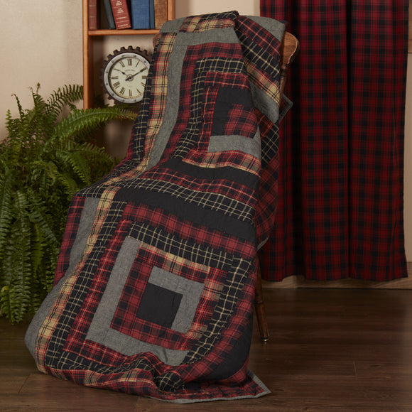 Cumberland Quilted Throw 70x55 blanket decorative wall Window hanging - Jam-Discount Home Decor