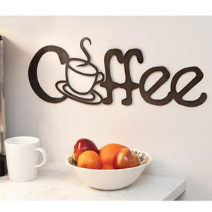 Coffee Metal Cutout Brown Sign Kitchen - Jam-Discount Home Decor