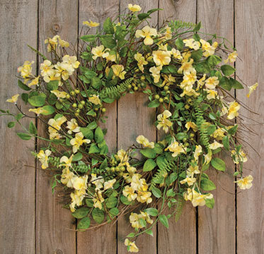 Spring Floral Clover Blossom Yellow Wreath 22
