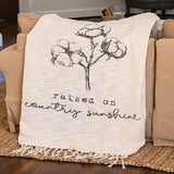 Raised on Country Sunshine Woven Throw - Jam-Discount Home Decor