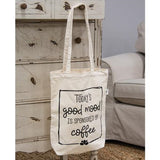 Today's Good Mood Coffee Canvas Tote Shopping Bag
