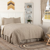 Sawyer Mill Charcoal Ticking Stripe Quilt Set