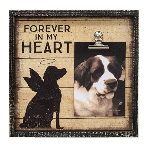 My Heart Beloved Dog Inset Box wood Frame - Jam-Discount Home Decor