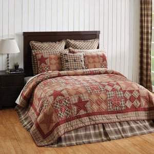 Dawson Star Patchwork Bedding Lodge King Queen Twin Sham Skirt Vhc Brand - Jam-Discount Home Decor