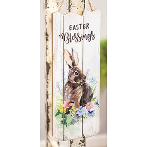 Easter Blessings Bunny Wooden Wall Hanging - Jam-Discount Home Decor