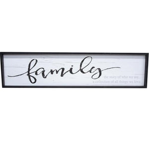 Farmhouse Family Framed Wall Sign Country Home
