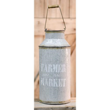 "Farmer Market Display Galvanized metal milk can 14"" Tall - Jam-Discount Home Decor"
