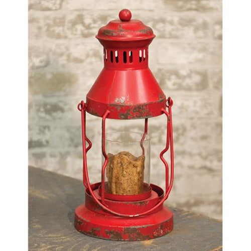 Rustic Farmhouse Red Lantern - Jam-Discount Home Decor