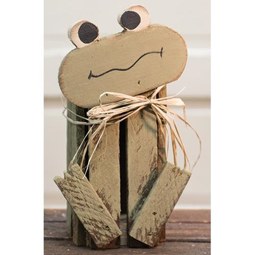 Distressed Green Painted Lath Froggy Crate - Jam-Discount Home Decor