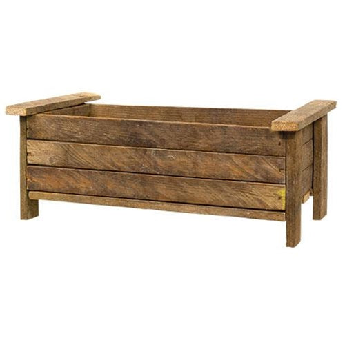Unfinished Primitive Wood Lath Trough Planter - Jam-Discount Home Decor