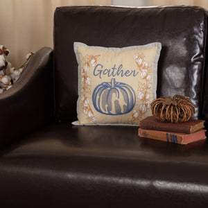 Ashmont Pumpkin Scale Pillow 14x22 Fall Porch Decor Gather 12x12