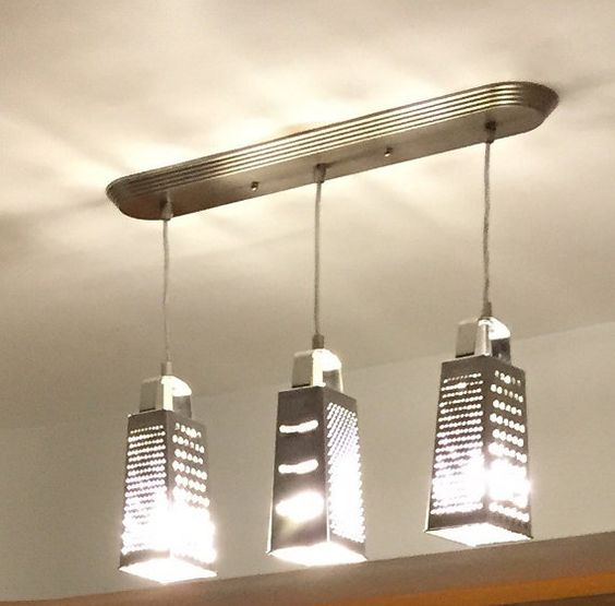 Metal Grater Light Fixture Ceiling Mount - Jam-Discount Home Decor