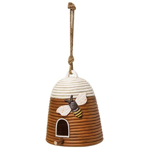 Resin Hanging Bee Skep Springtime Decor - Jam-Discount Home Decor