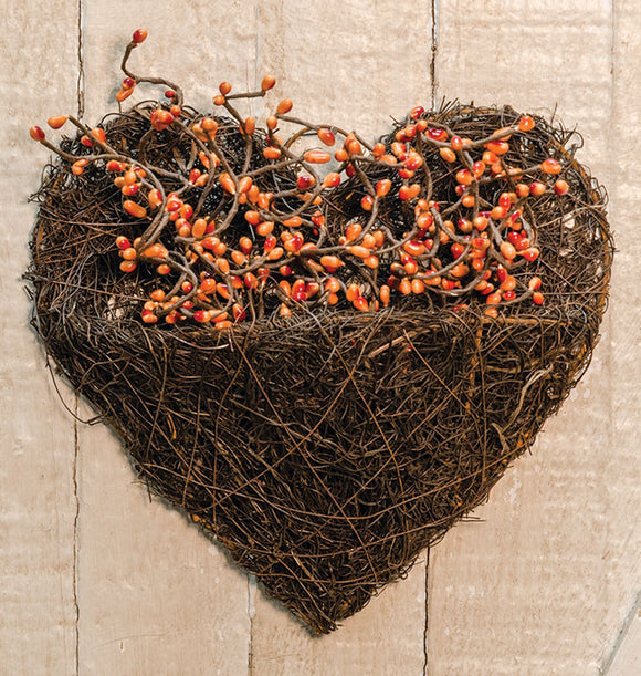 Heart Wall Basket Angel Vine - Jam-Discount Home Decor
