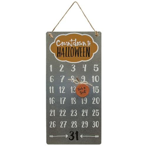 Trick or Treat Halloween Countdown Calendar - Jam-Discount Home Decor