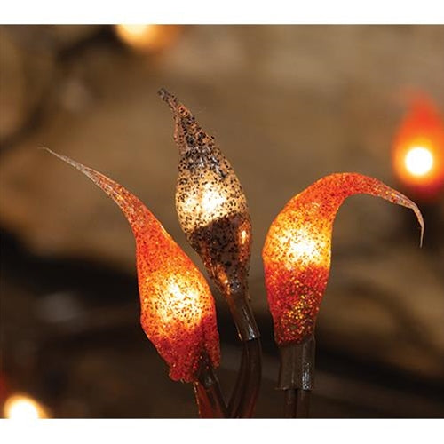 Jack-O'-Lantern Silicone Teeny String Lights Tree Wreath