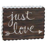 Just Love Wooden Box Sign - Jam-Discount Home Decor