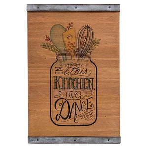 Country Kitchen Mason Jar Sign - Jam-Discount Home Decor