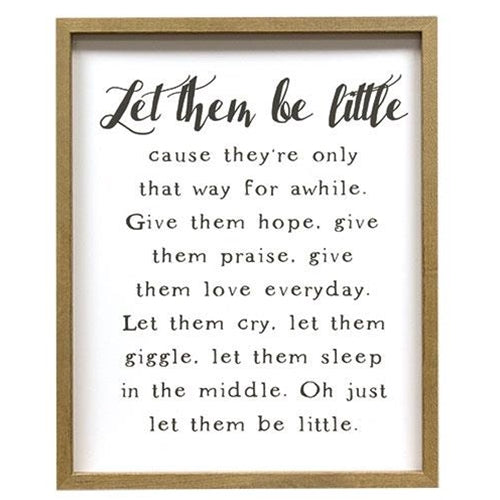 Let Them Be Little Framed Print New Parent Gifts - Jam-Discount Home Decor