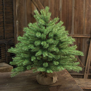 "Country Farmhouse Tabletop Christmas Tree burlap Base 26"" Tall - Jam-Discount Home Decor"
