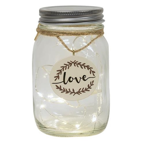Lighted Led Mason Jar Love Valentines Mothers Day Gift - Jam-Discount Home Decor